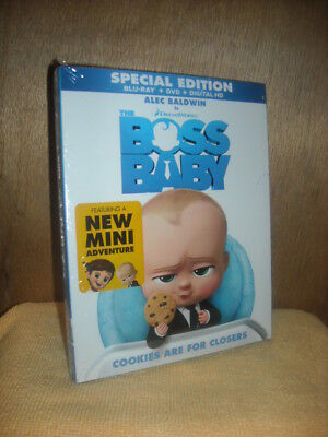 The Boss Baby (Blu-ray/DVD, 2017, Includes Digital Copy)  Alec Baldwin