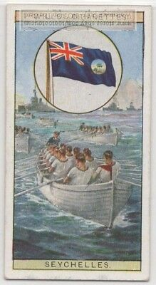 British Colonial Flag Seychelles Colony Africa 80+ Y/O Ad Trade Card