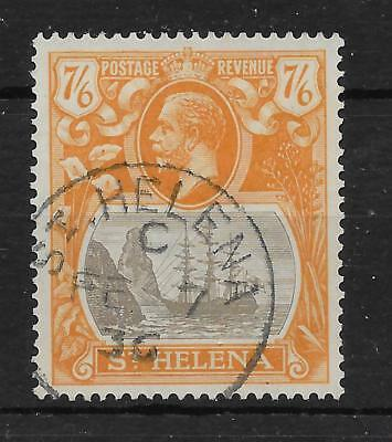 St.helena Sg111 1922 7/6 Grey-Brown & Yellow-Orange Used