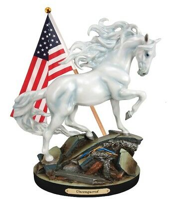 Enesco Trail Of Painted Ponies Unconquered 9/11 Tribute American Spirit New 5520