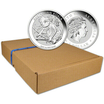 2018 P Australia Silver Koala (1 oz) $1 - BU - 1 Box - Sealed 100 Coin Box
