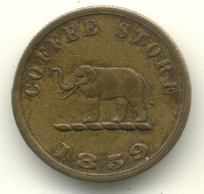Ceylon, 1859 Coffee Store Token A and B Scott and Co, Colombo