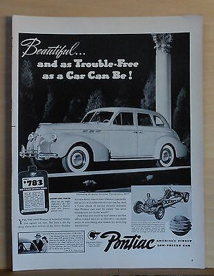 1940 magazine ad for Pontiac - Special Six Touring Sedan, Trouble Free Beauty