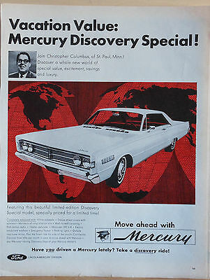 Vintage 1967 magazine ad for Mercury -  Limited Edition Discovery Special