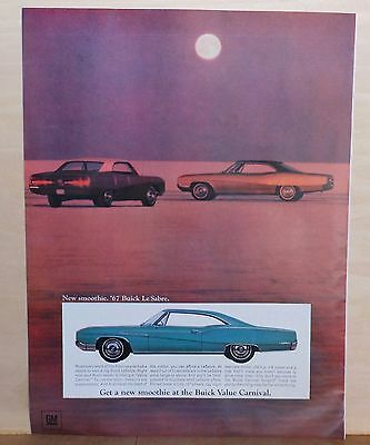 1967 magazine ad for Buick - '67 Le Sabre, New Smoothie at Buick Value Carnival