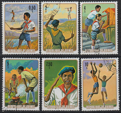 Guinea Guinée 1974 used Mi.706/11 A Pfadfinder Scouts Scouting [st3392]