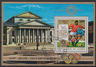 Guinea Guinée 1972 used Bl.33 A Olympische Spiele Olympic Games Fußball [st3404]