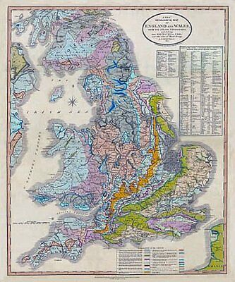 William Smith 1820 geological map of England & Wales