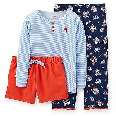 NWT ☀3PC SET☀ CARTERS  $34 New FLOWERS  Girls Pajamas YOU PICK  4  6  7   $34
