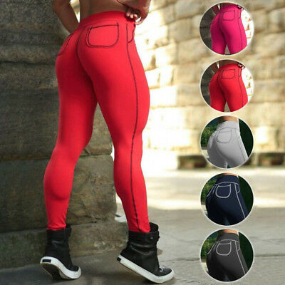 2018 Butt Lift Womens Athletic Pants Sports YOGA Fitness Workout Gym Leggings US