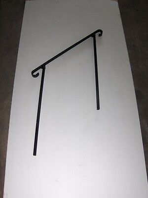 """38""""  A-Justa-Rail with mounting shoe Wrought Iron stair Railing step grab Steel"""
