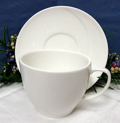 Royal Doulton All White Spa Lifestyle Reflection Pattern  New Cup & Saucer
