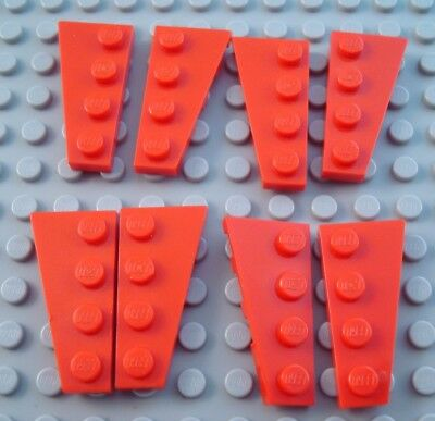 LEGO Lot of 4 Pair of Red 4x2 Space Wing Wedge Plate Parts and Pieces