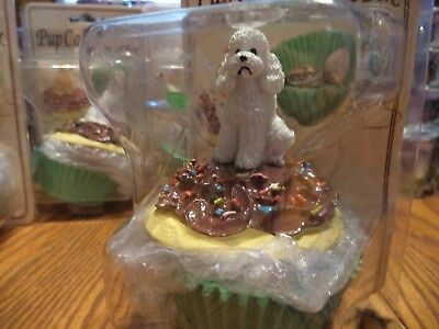 White Poodle  Pupcakes - Trinket Box -