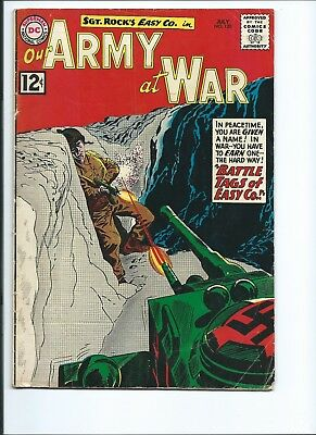 Our Army At War 120 - G/vg 3.0 - Sgt. Rock - Easy Company (1962)