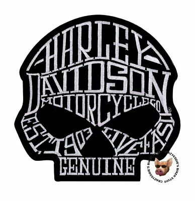 Harley Davidson Willie G Loud Mouth Skull Vest Patch * Obsolete Patch * Jacket