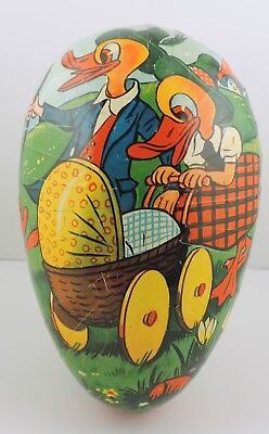 """West Germany 5"""" Paper Mache Fillable Easter Nesting Egg"""