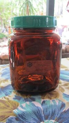 ***Vintage Amber Depression Glass JAR fabulous!***