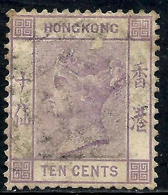HONG KONG SCOTT 42 USED FINE - 1982 10c QUEEN VICTORIA ISSUE   CAT $22
