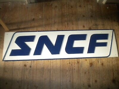 Vintage metal Sign SNCF French Railways station large 130 x 34 cms