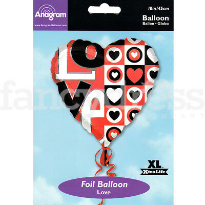 "18"" Foil Balloon Bold Love Heart Valentine Wedding Engagement Air/Helium Fill"