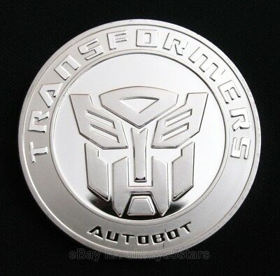 Transformers Autobot Decepticon Cartoon Superhero Silver Coin Fans Collectibles