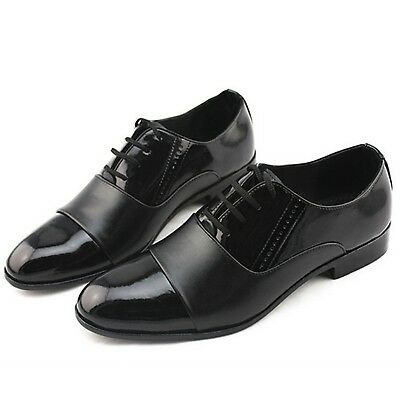 Mens Shoes Italian faux leather Tuxedo Pointed Fashion business brogues size 5-9
