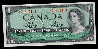 CANADA 1 DOLLAR REPLACEMENT  ( 1961-72 )  PICK # 74b  VF+.