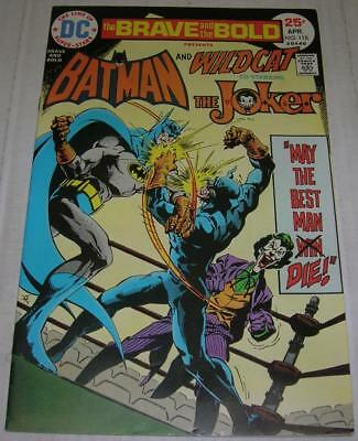 BRAVE AND THE BOLD #118 (DC Comics 1975) BATMAN WILDCAT & JOKER story (FN/VF)
