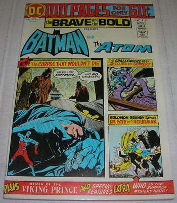 BRAVE AND THE BOLD #115 (DC Comics 1974) BATMAN & THE ATOM (FN+) 100 PAGES