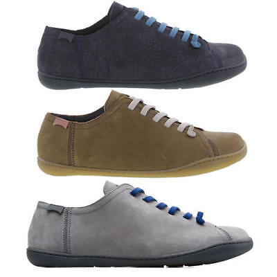 Camper 17665 Peu Cami Mens Grey Blue Green Leather Trainers Shoes Size UK 7-12