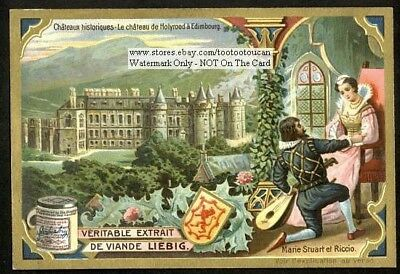 Holyrood Palace Edinburgh Scotland England British  Royalty c1905 Trade Card