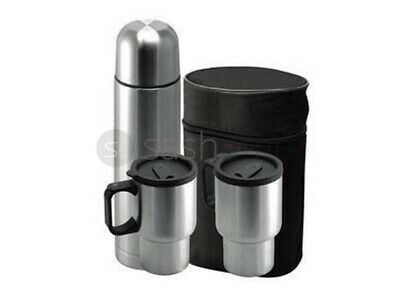 New 3Pc Stainless Steel Vacuum Flask Mugs Hot Cold Coffee Tea With Mug Set