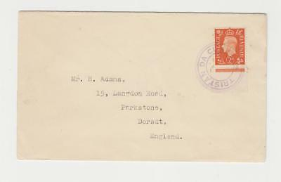 TRISTAN DA CUNHA TO UK, GV1 2d(WITH MARGIN) RATED, CACHET C9 (SEE BELOW)