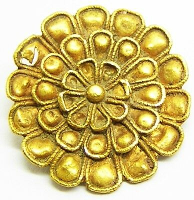Superb Ancient Hellenistic Greek Gold Rosette Pendant Ornament c. 4th century BC