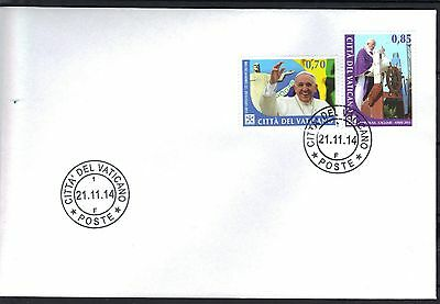 Vatican 2014 Pope Francis Apostolic Journeys in 2013 FDC