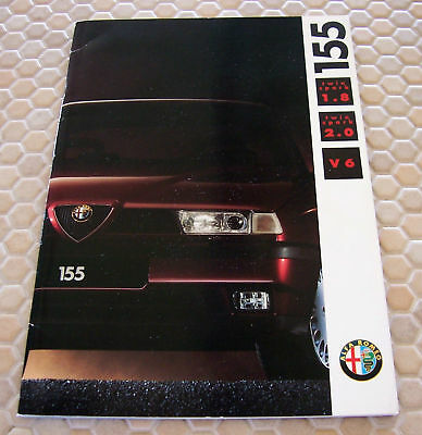 Alfa Romeo Official 155 1.8 2.0 V6 Prestige Brochure 1993 German