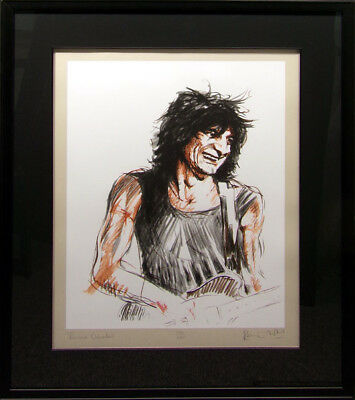 """Ronnie Wood """"Voodoo Ronnie"""" Screenprint Hand Signed with custom famed Make Offer"""
