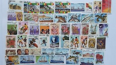 50 Different Cape Verde Stamp Collection