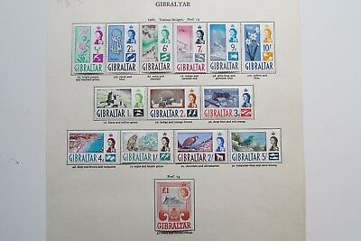 XL2984: Gibraltar QEII Complete Set Mint Stamps to £1 (1960).