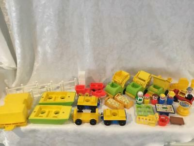 Fisher Price Vintage Little People 34 Piece Lot