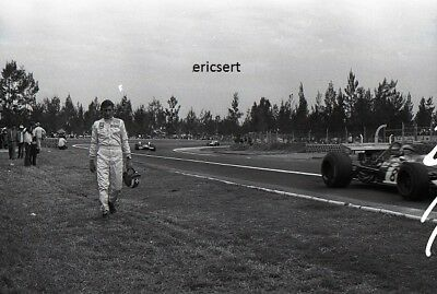photo 20 par 30 cm Jo Siffert Lotus  Grand Prix mexique F1 1969