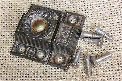 "Very small Cabinet catch jelly Cupboard Latch decorated knob old 1 5/8"" rustic"