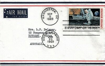 UNITED STATES  1969 Moon Landing Air Mail FDI Cover
