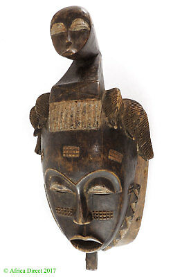 Yaure Mask with Face on Top Ivory Coast African Art