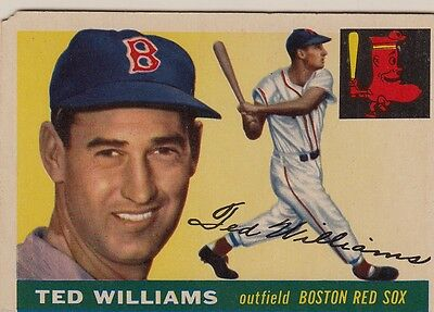 Topps 1955 #2 Ted Williams-Hall of Famer-Boston Red Sox