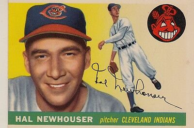 Topps 1955 #24 Hal Newhouser-Cleveland Indians