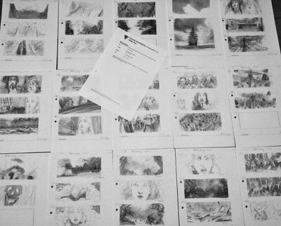 Set Of Production Used Copy Preliminary Storyboards Storyboard Art Peter Pan '03