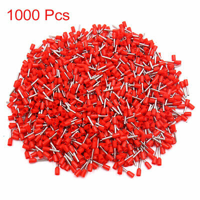 1000Pcs AWG16 Automotive Wire Crimp Insulated Ferrule Pin Cord End Terminal Red