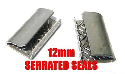 12mm Serrated Seals for PET 12mm x 0.7mm Strapping x1000 pieces